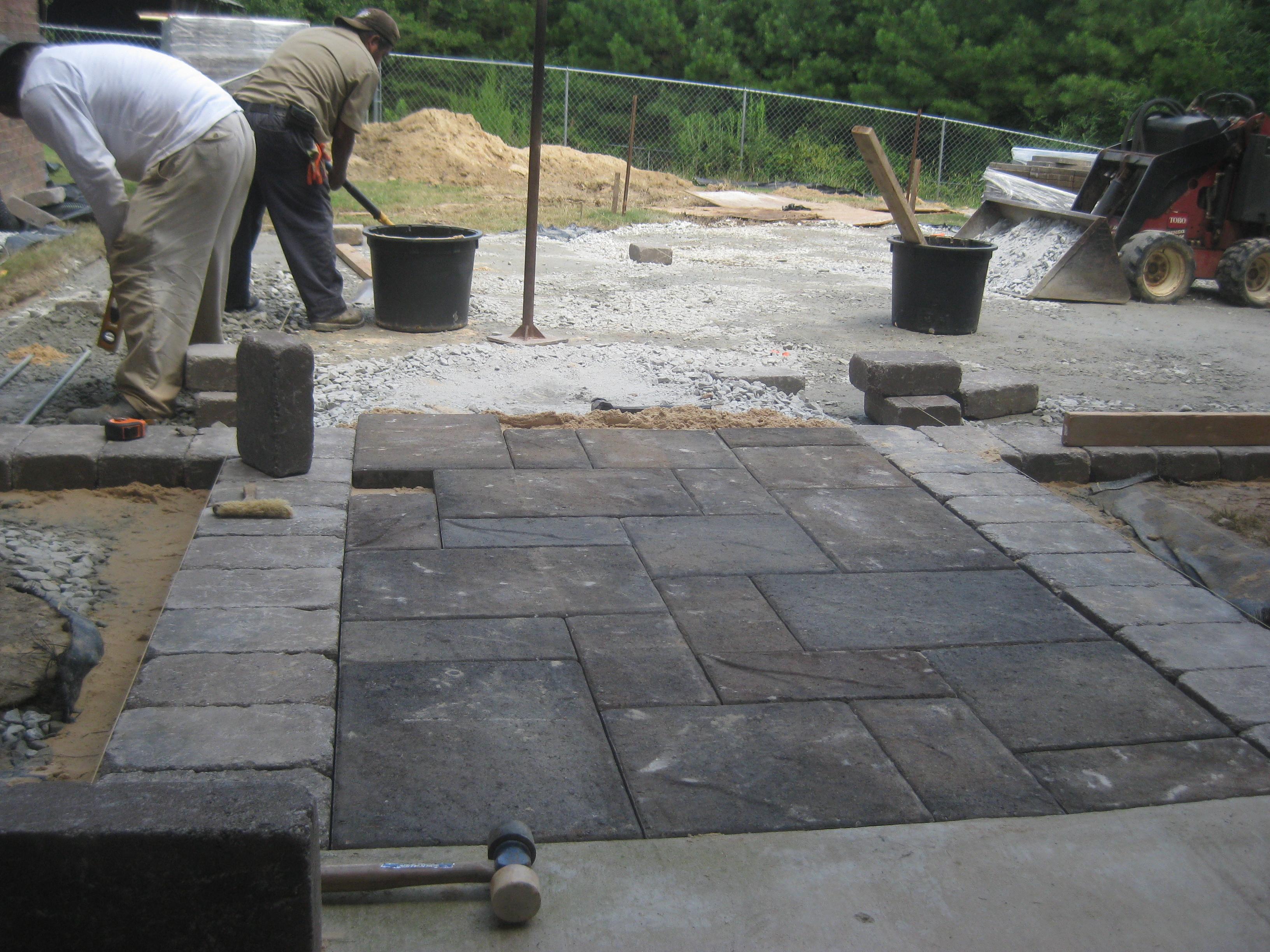 interlocking concrete pavers installation - mcplants