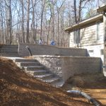 segmental concrete retaining wall installation contractor - McPlants, 167