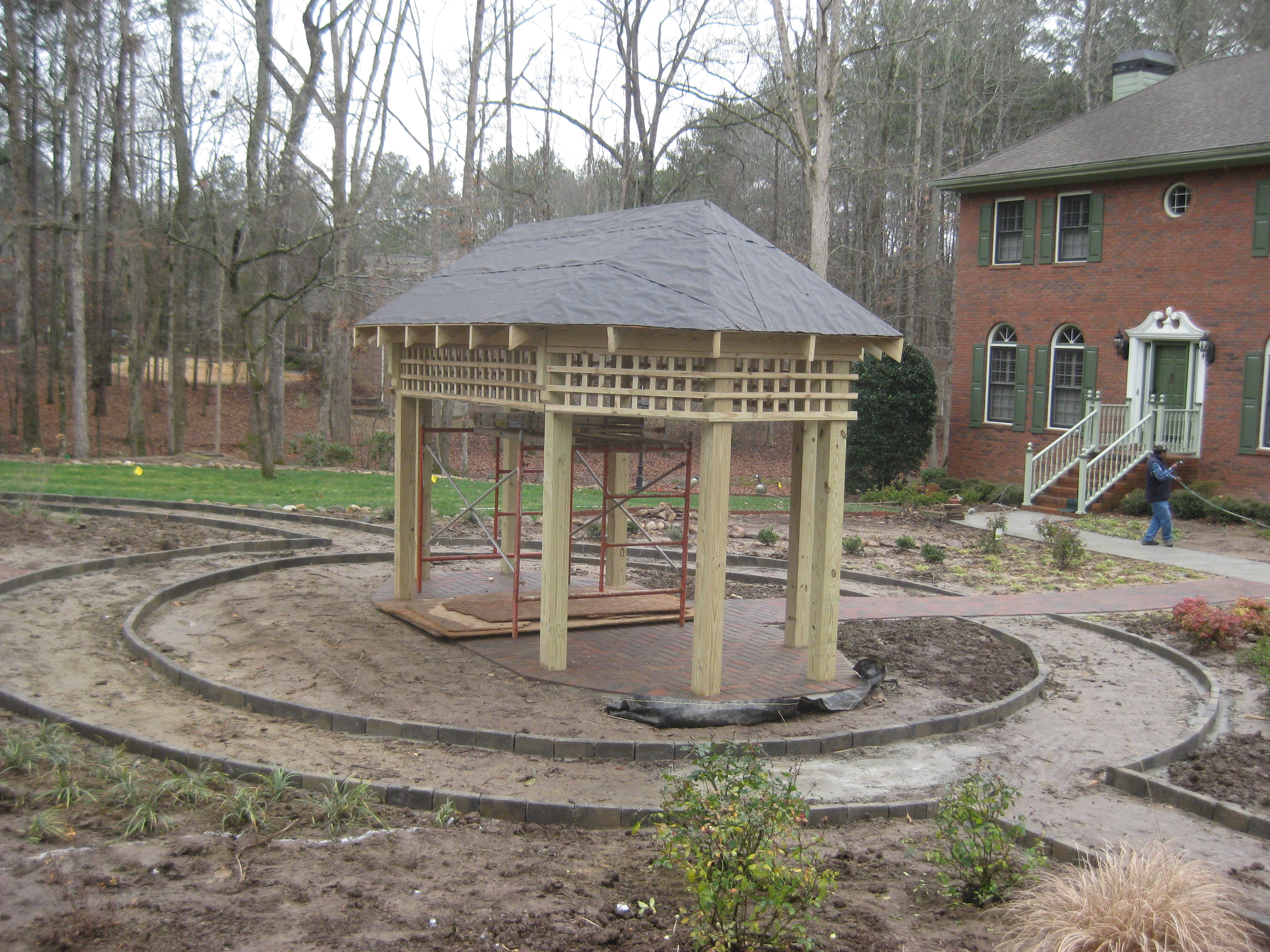 pergola trellis panels with cleft chestnut garden sweet structures gallery