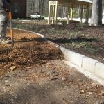 mulch pathway patio installation - McPlants, IMG_1527