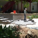 segmental concrete retaining wall installation contractor - McPlants, IMG_20120625_133342
