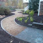 mulch pathway patio installation - McPlants, IMG_20131114_164519