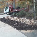 Rock stone retaining walls installation contractor - McPlants, IMG_20131114_164734