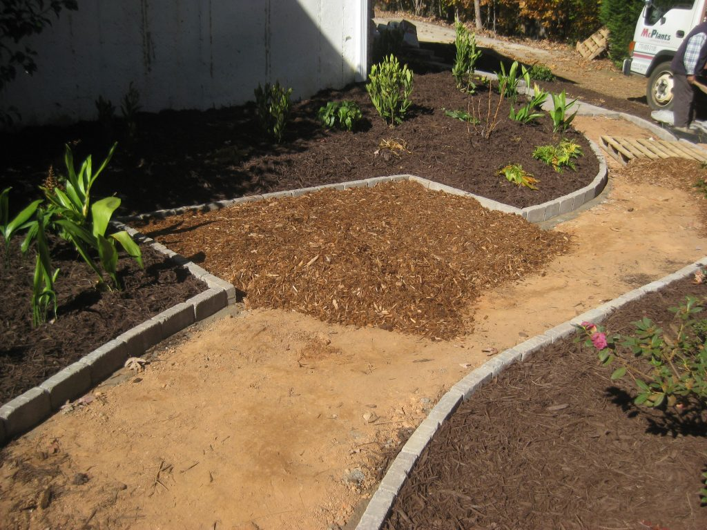 Cypress and Brown Hardwood Mulch