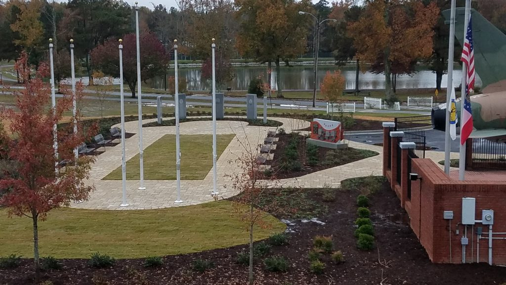 Southern overlooking view of Douglasville's Military Honor Garden 11-10-17.
